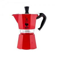 Гейзерная кофеварка на 3 порции Bialetti Moka Express, красная
