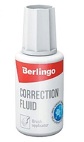 Корректирующая жидкость Berlingo на химической основе, 20мл.