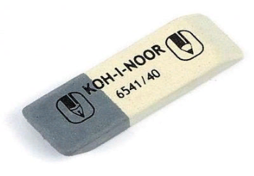 """Ластик KOH-I-NOOR """"Sunpearl 40"""" белый/серый"""