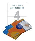 Этикетки самоклеящиеся Multilabel, А4, 105 х 148,5 мм., 4 шт/лист, 100 л.