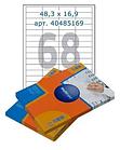 Этикетки самоклеящиеся Multilabel, А4, 48,5 х 16,9 мм., 68 шт/лист, 100 л.