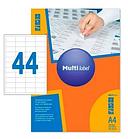Этикетки самоклеящиеся Multilabel, А4, 48,5 х 25,4 мм., 44 шт/лист, 100 л.