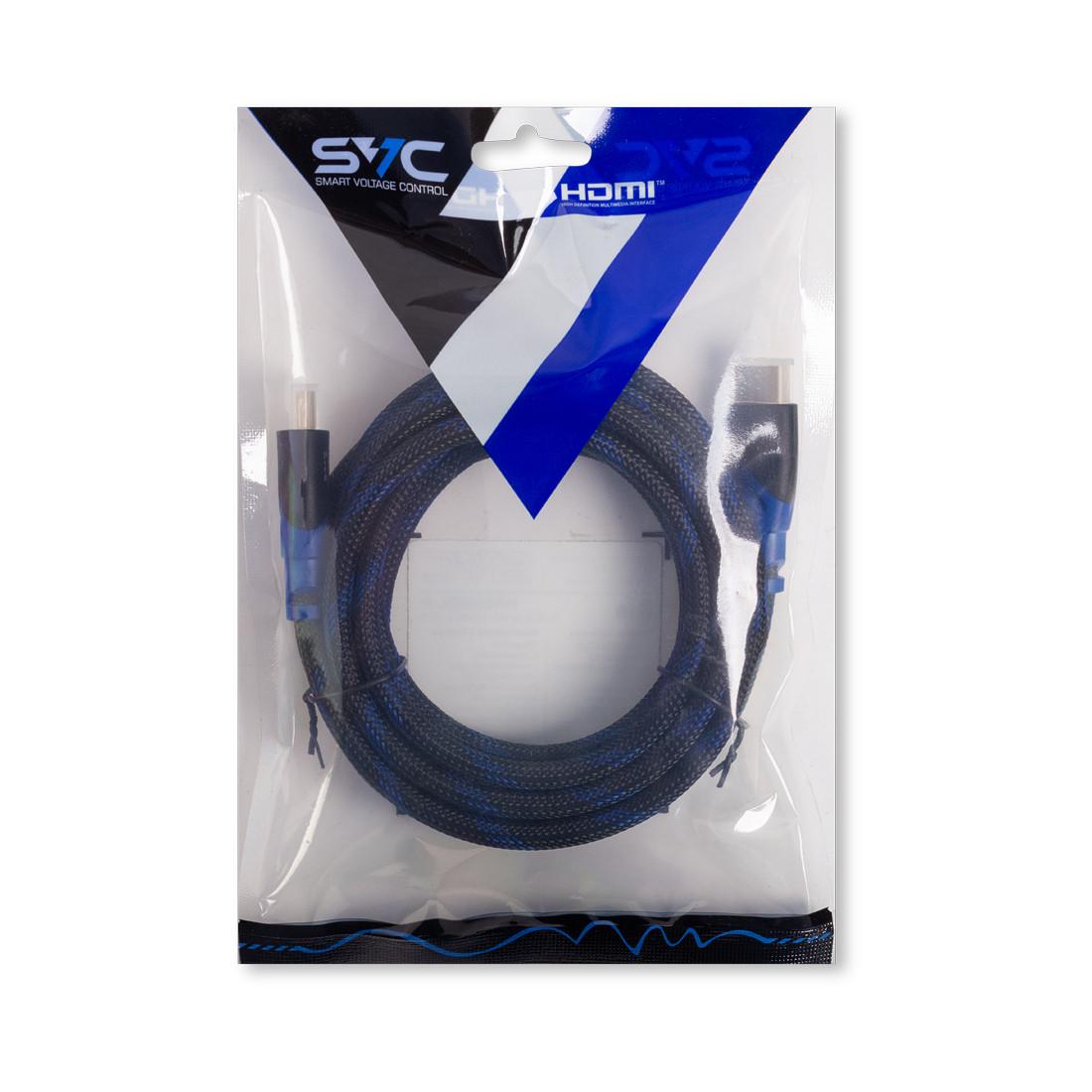 Интерфейсный кабель, HDMI-HDMI, SVC, HR0300BL-P, 30В, Синий, Пол. пакет, 3 м