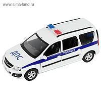 Машина металлическая «Lada Largus Полиция» 1:24, открываются двери, багаж, капот, световые и звуковые эффекты