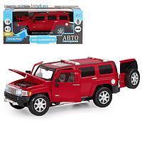 Машина металлическая Hummer H3 1:24 открываются двери, капот, свободный ход колёс, световые и звуковые эффекты