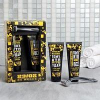 Набор '23/02' гель для бритья и гель после бритья 75 мл аромат мужского парфюма