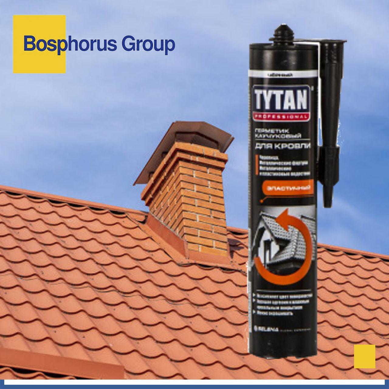 Герметик TYTAN для кровли каучуковый бесцветный, черный