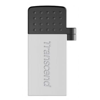 USB Флеш 16GB 2.0 Transcend TS16GJF380S серебро
