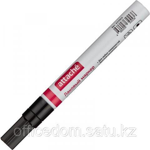 Маркер перманентный Attache PAINT (лак), 4 мм, черный