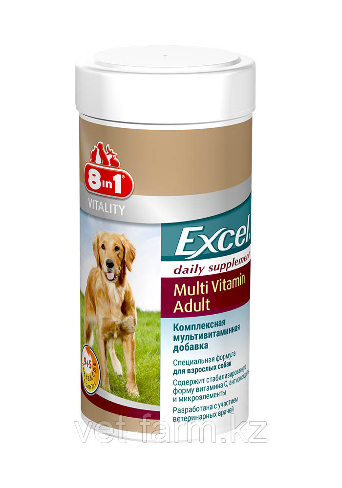 Мультивитамины для взрослых собак  8in1 Excel Multivitamin Adult 70 таб