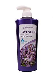 3W CLINIC Лосьон для тела Lavender Relaxing Body Lotion 550 мл