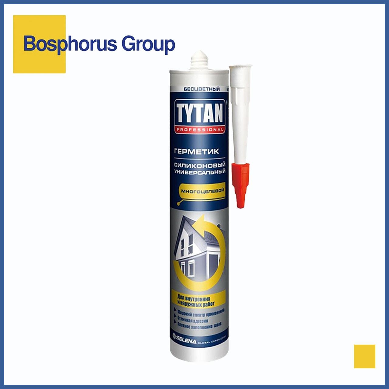 Силикон TYTAN (герметик силиконовый) универсальный, бесцветный, белый, черный