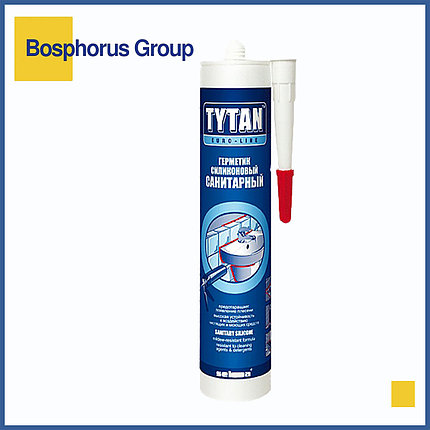 Силикон TYTAN санитарный (герметик силиконовый), бесцветный, белый, фото 2