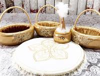Набор на Сырга салу с казахскими орнаментами