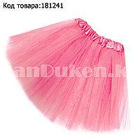 Юбка пачка детская для танцев 30 см, светло розовая