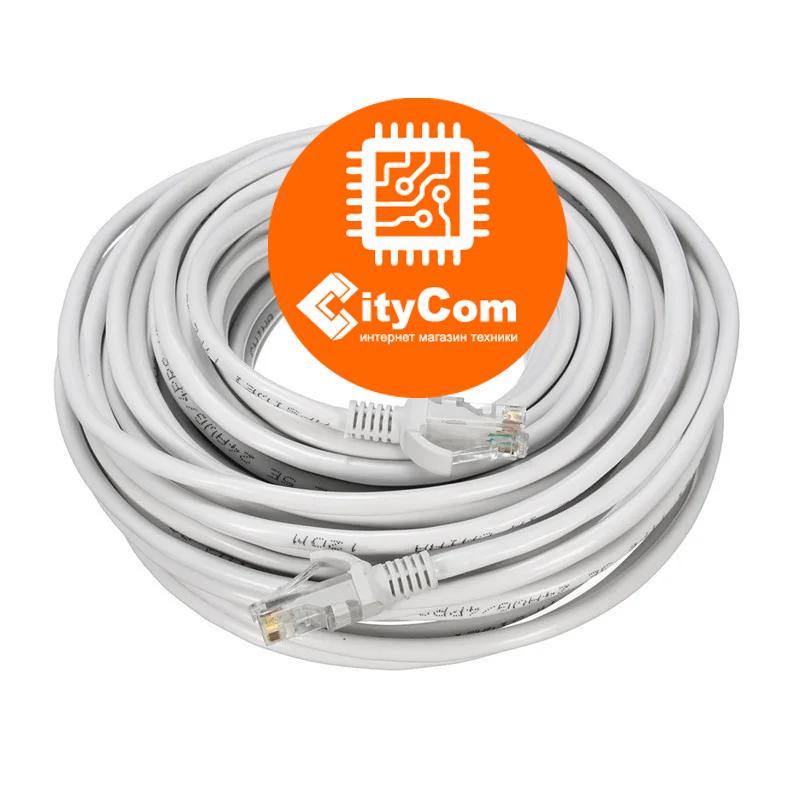 Сетевой кабель Cat.5e, UTP, RJ-45 LAN (Patch Cord, патчкорд), белый, 15m