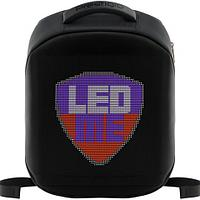 LEDme backpack, animated backpack with LED display, Polyester+TPU material, Dimensions 42*31.5*15cm, LED