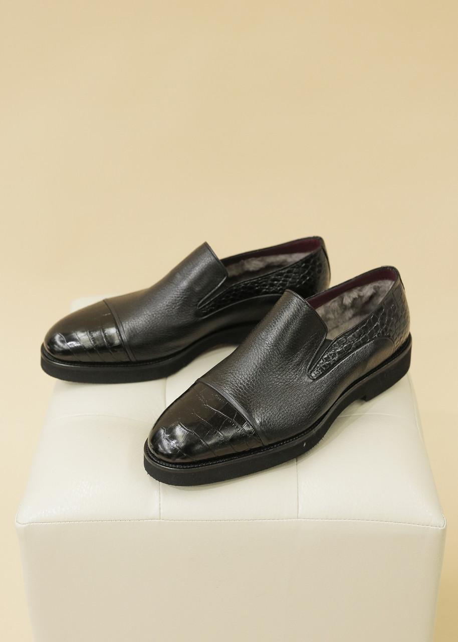 Туфли-классика, черные (лоферы)