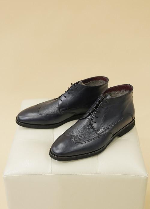 Ботинки «Оксфорды» темно-синие