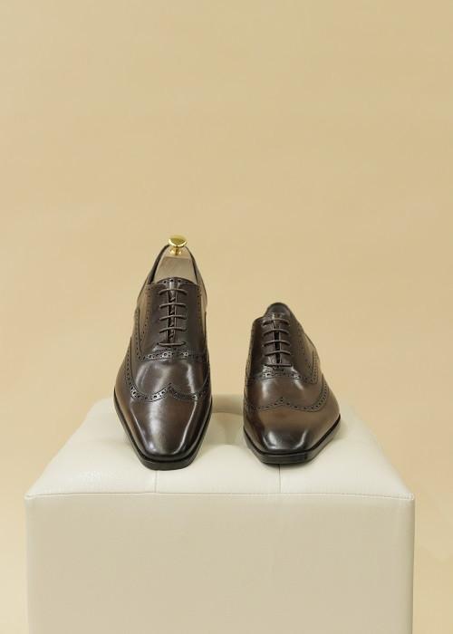 Кожаные туфли «Оксфорды» (коричневые)