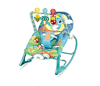 Кресло-качалка Ibaby с игрушками и вибрацией Сова