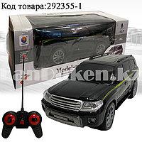 Машинка радиоуправляемая на аккумуляторе со светящими фарами Remote Control Car 1:16 черного цвета