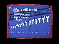 KING TONY Набор ключей комби 14пр. до 19 мм