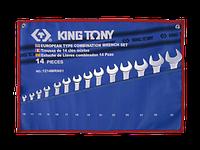 KING TONY Набор ключей комби 14пр. до 32 мм