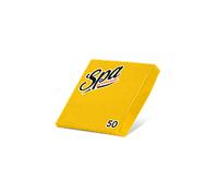 Салфетки бумажные (24х24) 2сл краевое тиснение SPA Premium цвет грейпфрут 50 листов