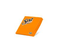 Салфетки бумажные (24х24) 2сл краевое тиснение SPA Premium цвет оранжевый 50 листов