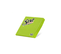 Салфетки бумажные (24х24) 2сл краевое тиснение SPA Premium цвет зеленый анис 50 листов