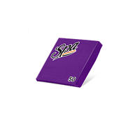 Салфетки бумажные (24х24) 2сл краевое тиснение SPA Premium цвет аметист 50 листов