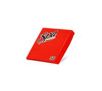 Салфетки бумажные (24х24) 2сл краевое тиснение SPA Premium цвет красный перец 50 листов