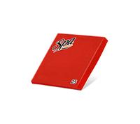Салфетки бумажные (33х33) 2сл краевое тиснение SPA Premium цвет красный перец 25 листов
