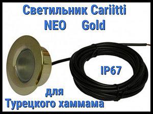 Светильник для турецкого хаммама Cariitti Neo (Золото, линза прозрачная, IP67)