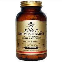БАД Solgar, Ester-C Plus, Витамин C, 1000 мг C (90 таблеток)