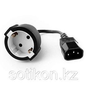 Удлинительный кабель питания Cablexpert PC-SFC14M-01, 15см, C14 - евро-розетка