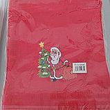 Мешок для подарков Новогодний Дед Мороз 30*40 см, фото 2