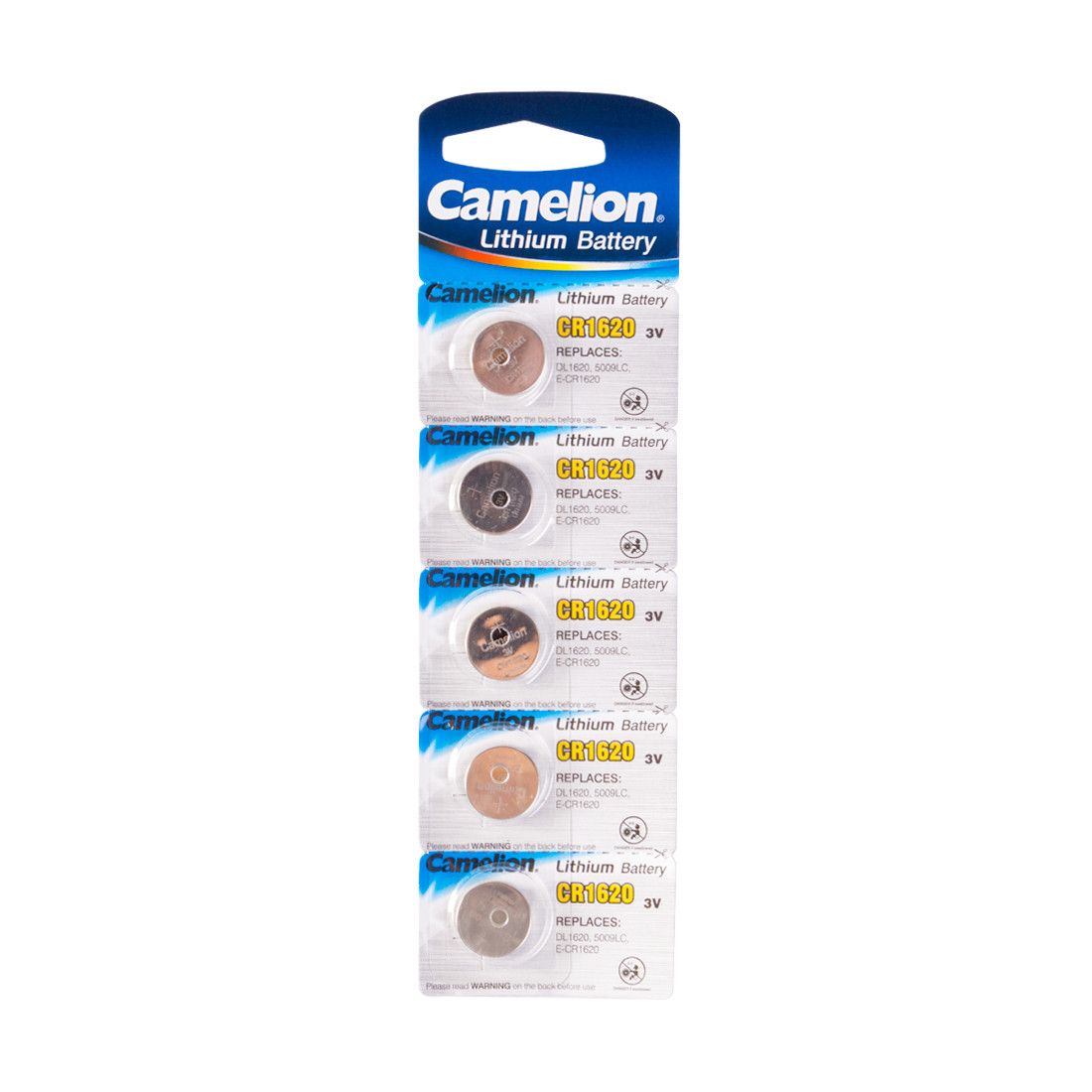 Camelion,  Lithium CR1620-BP5, (5 шт), батарейка