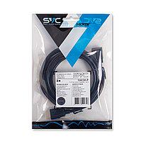 Интерфейсный кабель  HDMI-HDMI  угловой  SVC  HA0300-P  30В  Чёрный  Пол. пакет  3 м.