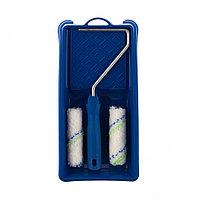 Малярный набор для работ с водными красками: кювета 150 мм х 290 мм и мини-валик 110 мм Сибртех