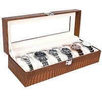 Шкатулка в кожаном переплете для хранения наручных часов Banda-C1006 (Коричневый)