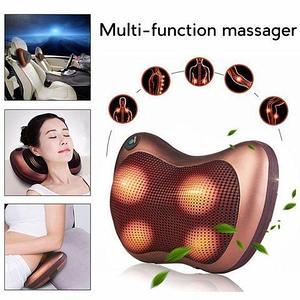Массажер-подушка с нефритовыми роликами и подогревом CAR & HOME Massage Pillow