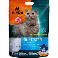 Murkel, Муркель силикагелевый наполнитель для кошек с ароматом Розы, уп. 22л (10кг)