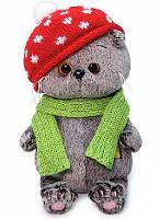 Кот Басик Baby в шапке мухомор мягкая игрушка