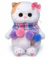 Кошечка Ли-Ли Baby в полосатом шарфике мягкая игрушка