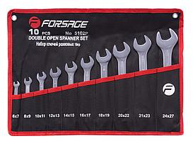 Forsage Набор ключей рожковых 10 предметов(6x7мм-24х27мм) на полотне Forsage F-5102P 9927