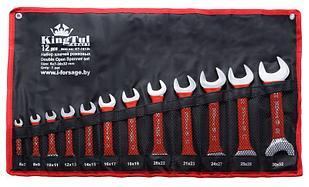 Kingtul kraft Набор ключей рожковых 12 предметов (6х7-30х32мм) на полотне KingTul kraft KT-1012k(3212K) 11059