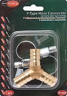 """ROCKFORCE Y-образный разветвитель""""елочка"""" 12мм + хомуты для крепежа (в блистере) ROCKFORCE RF-E102-5/4 1774"""