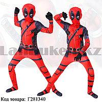 Костюм детский карнавальный цельный с маской для мальчиков Дэдпул Deadpool